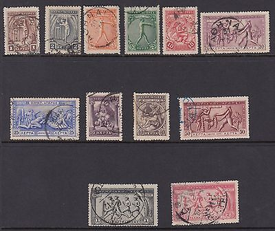 GREECE: 1906 OLYMPIC GAMES 1l-2d  SG 183-94 used