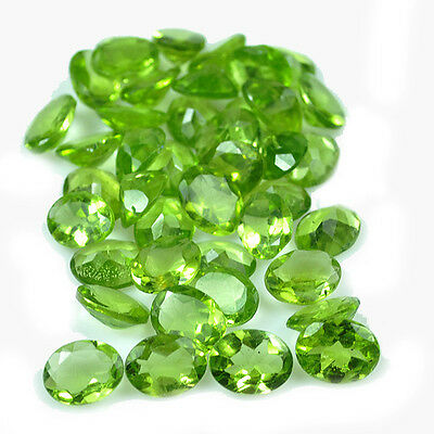 69.70 Ct Finest Parrot Green Untreated Rare Top Natural 42 Pcs Peridot Gems Lot