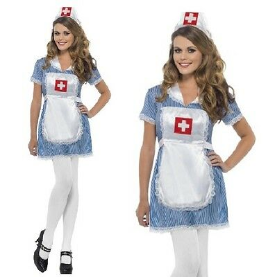 2a39603376ebd Ladies Naughty Nurse Fancy Dress Costume Womens Nurses Outfit New by Smiffys