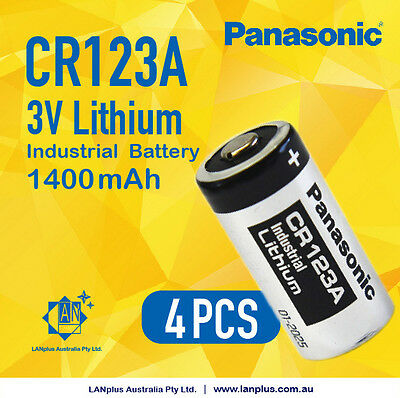 4pcs Panasonic CR123 CR123A CR17345 K123 16340 3V Lithium Camera Photo Batteries