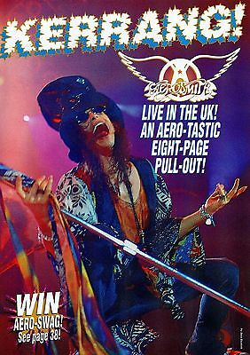 Aerosmith Live In The UK magazine pull-out 8 pages issued in 1993