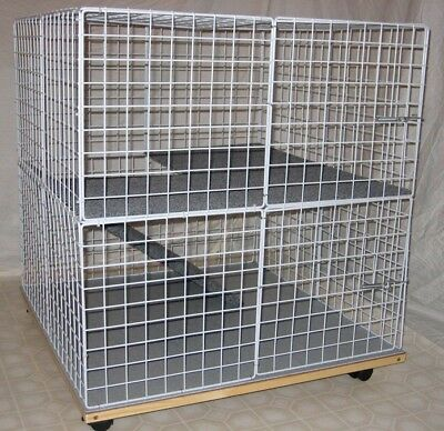 new indoor large bunny condo rabbit cage pen hutch. Black Bedroom Furniture Sets. Home Design Ideas