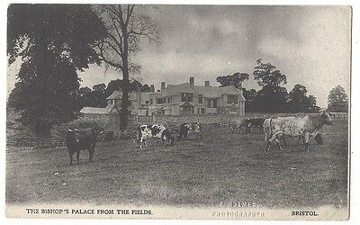 BRISTOL Bishop's Palace from the Fields, Old Postcard Postally Used 1905