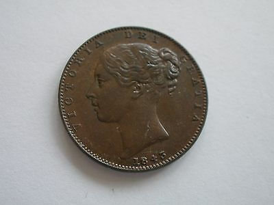 1843 Queen Victoria Farthing - Ef - Uk Post Free