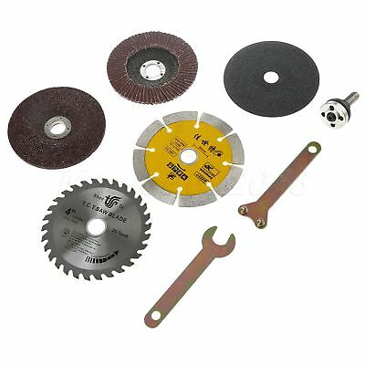 8pc Angle Grinder Saw Blades Disc Wheel Polished Pad Cut Off Grinding Rotary Kit