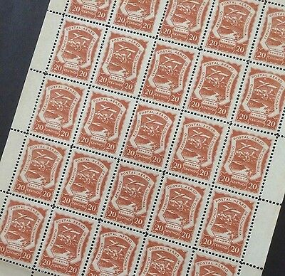 £££ Colombie Colombia SCADTA Timbre airmail  n° 32 - feuille sheet 1921 MNH**