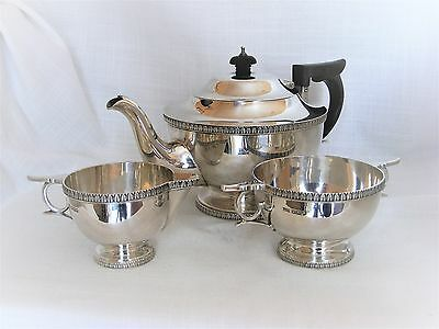 Beautiful, 3 Piece, Solid Silver Tea Set – Sheffield 1920 by Walker & Hall