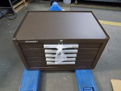 "Kennedy 5 Drawer Tool Chest 27"" W x 18"" D 16-5/8"" H Steel Brown Wrinkle 285B"