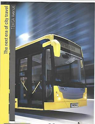 TEMSA AVENUE DAF AND CUMMINS ENGINED BUS COACH SALES BROCHURE FOR THE 2000's