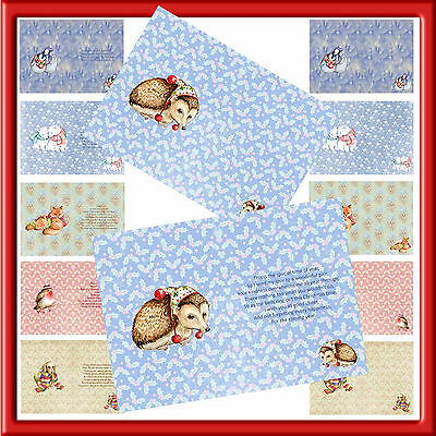 A5 X 24 Christmas Luxury Inserts  For Your Hand Made Cards( Set 2 )