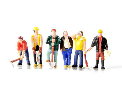 Bachmann Scenecraft Oo Scale 36-042 Construction Workers 6 X Figures