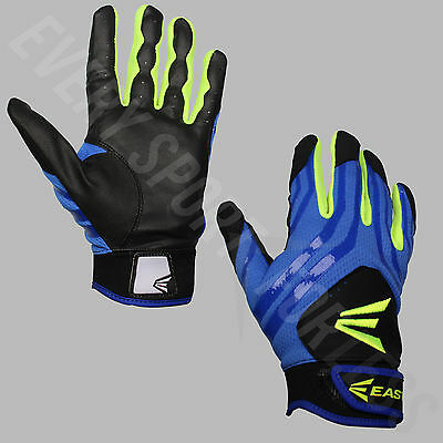Easton HF3 Youth Hyperskin FP Baseball Batting Gloves - Blue/Yellow/Black (NEW)