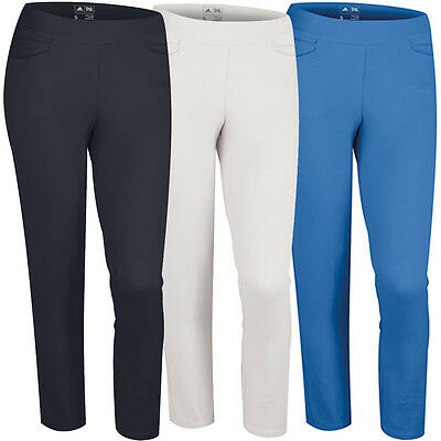 2015 Adidas Womens Essentials PureMotion Cropped Golf Pants NEW