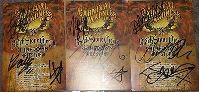 Carnival Of Madness Tour 2016.lot Of Three Signed Flyers.see Pictures And Descri