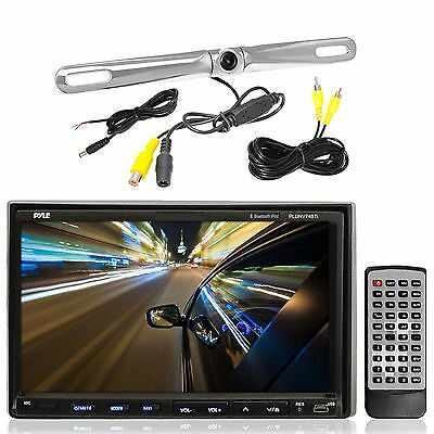 Double Din Bluetooth iPod Mp3 USB CD Radio, 1 Back Up Parking Assist Zinc Camera
