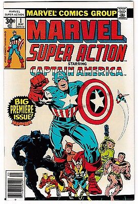 MARVEL SUPER ACTION #1 (NM) High Grade! CAPTAIN AMERICA #100 (r) Bronze-Age 1977