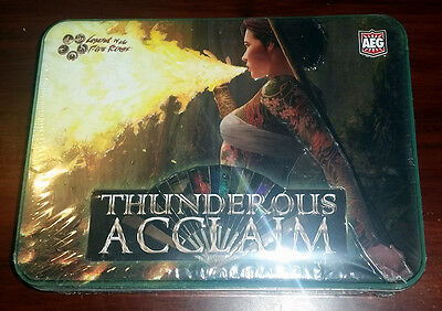 L5R legend of the five rings ccg - sealed THUNDEROUS ACCLAIM tin booster box