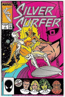 SILVER SURFER #1 (VF+) Norrin Radd! Double-Sized! 1987 Fantastic Four! Galactus!