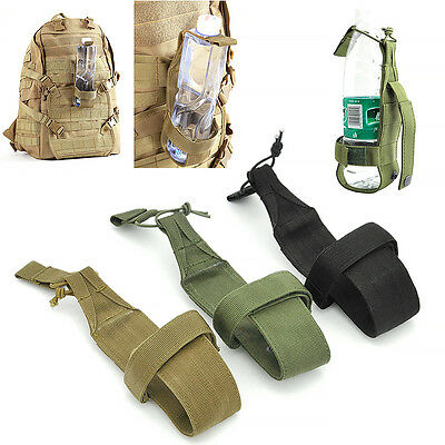Tactical Camping Hiking Molle Water Bottle Holder Belt Carrier Pouch Nylon Bag