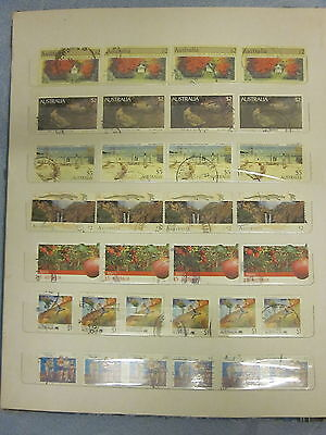 BULK LOT 32 x AUSTRALIAN HIGH VALUE STAMPS  $5  $2 $1  Decimals Used