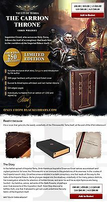 Vaults of Terra: The Carrion Throne - Chris Wraight - Superlimited HB Edition