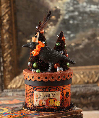 Bethany Lowe Halloween TP6184 Party Crow on Box Container 2017
