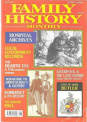 FAMILY HISTORY MONTHLY MAGAZINE June 2000 Somerset Hill Surname Hearth Tax