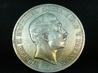 T2: World Coin German State of Prussia 1893 A 5 Mark