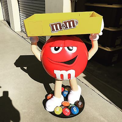 Rare with wheels Red M&M Candy Character Large Store Display 3 ft  tall