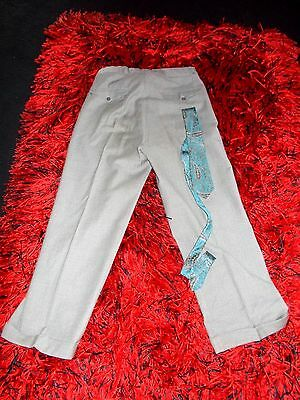 Mens Vntge 40S-50S Trousers Gc Am Dram Rockabilly 31 Lindyhop Pleats Bermans