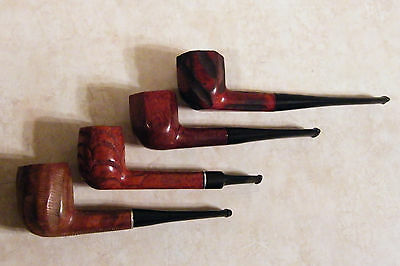 Vintage Estate Pipe Lot Of 4 - (3) Yellow Bole + (1) Marked: Imported Briar