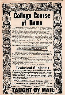 1890's Ad International Correspondence Schools Collier Engineer Co