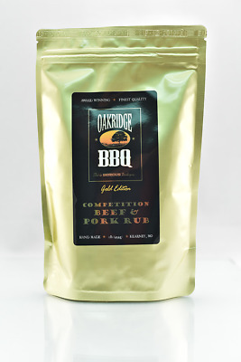 Competition Beef & Pork Rub 454g Gold Ed by Oakridge BBQ