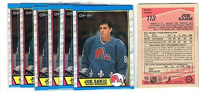 89-90 Opeechee#113 Joe Sakic Rc Rookie Hof Lot Of 6 Nmmt-Mint(*quebec*)