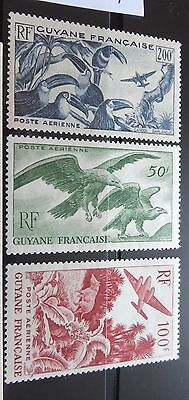 £££ Guyane - colonie France -  timbres stamps Airmail MNH** n° 35 / 37  1947