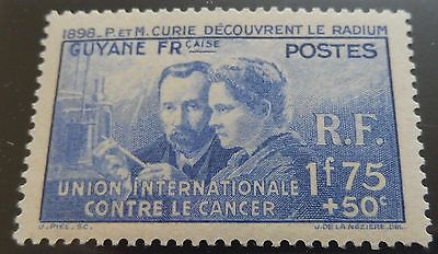 £££ Guyane - colonie France -  timbre stamp MNH** 1938 - Pierre et Marie Curie