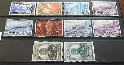 £££ Guyane - colonie France -  série timbres stamps MNH** année 1941