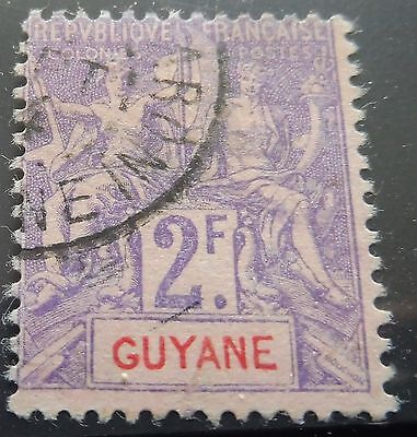£££ Guyane - colonie France - timbre stamp n° 48 - used - 1900
