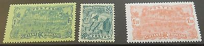 £££ Guyane - colonie France -  série timbres stamp n° 106 / 108 - MH* - 1924