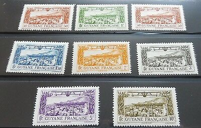 £££ Guyane - colonie France -  timbres airmail n° 11 / 18 - MNH**/* - 1933