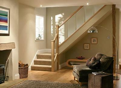 Solutions Contemporary Balustrade Stair Kit Glass Panels Oak Or Pine Rails