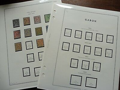 £££ Gabon Colonie France collection timbres stamps MNH**/* HIGH CV Feuilles MOC