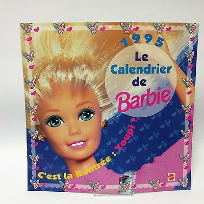 Barbie Doll Collectables - 1995 Calendar Sept - Dec Le Calendrier French