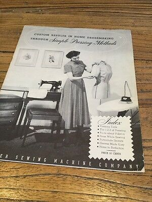 Old Booklet Custom Results In Home Dressmaking Singer Sewing Co