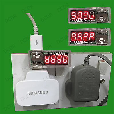 1x USB Mobile Power Drain Tester Detector, Voltage & Current Load Monitor Meter