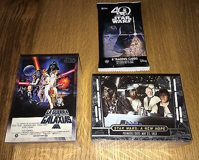 Star Wars 40th Anniversary 200 Card Base Set inc. Posters Kenner Ralph McQuarrie