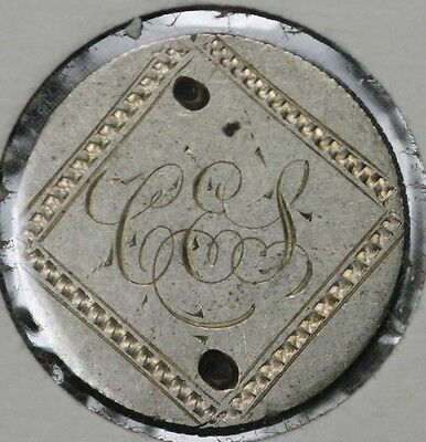 """1875?  Seated Liberty Dime Love Token - """"CES"""""""