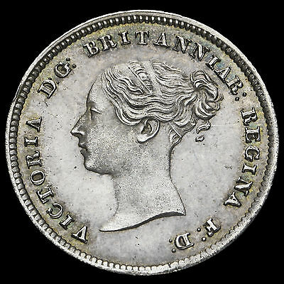 1862 Queen Victoria Young Head Silver Maundy Fourpence