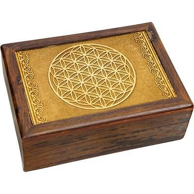 Laser Etched Flower of Life Wood Box!