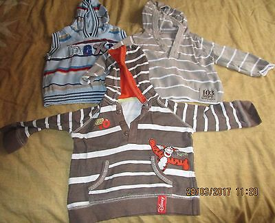 Small Bundle of  Baby Boys Hooded Tops Age 6-9 Months